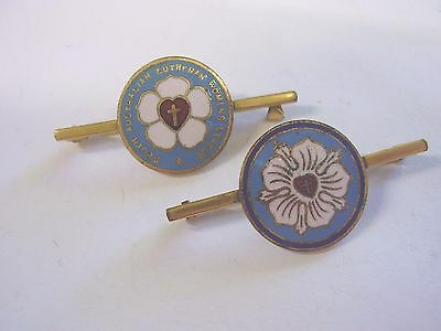 2 Vintage South Australian Lutheran Womens League Badge Pins Schlank Adelaide