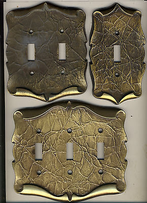 Lot Of 7 Vintage Brass Amerock Switch Plate Covers