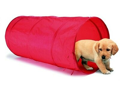 Royal Canin Agility Dog Training Tunnel Red Brand New Folds Flat