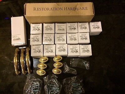 "Restoration Hardware Asbury 1 "" Knobs And 3 "" Pulls (lot 25 Knobs/3 Pulls)"