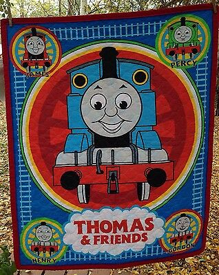 """Thomas and Friends Toddler Baby Quilt Crib Wall Hanging 32"""" wide x 39"""" long"""