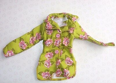 Barbie Sindy & My Scene Doll Clothing - Green & Pink Floral Jacket