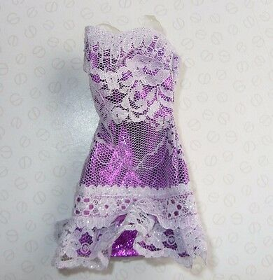 Barbie & My Scene Doll Clothing - Shimmery Purple & Lace Strappy Dress