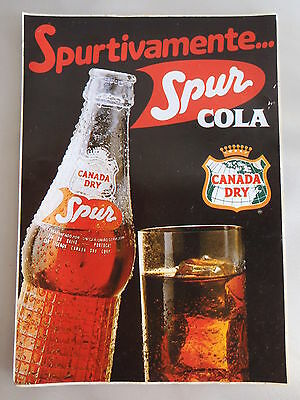 Sticker SPUR COLA CANADA DRY Very old and rare Portugal