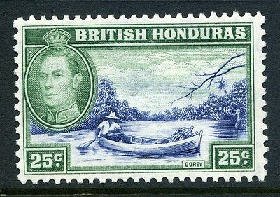 BRITISH HONDURAS;  1938 early GVI issue fine Mint hinged 25c. SP-245630