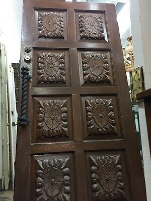 "Front door Spanish Wood Carved 35-3/4""x78-3/4"
