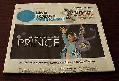 USA Today Death of Prince Newspapers April 22, 2016 Newsstand edition.