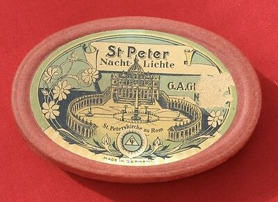 Vintage St Peter Nacht Lichte Floating Candles Christmas G.A. Glafey Nurnberg ~~