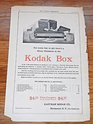 1906 Brownie Eastman KODAK BOX Advertising from The Youth's Companion Magazine