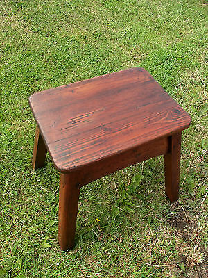 Antique Style Pine Milking Stool