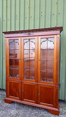 Lovely Cherry Wood Bookcase Display Cabinet