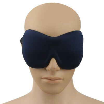 Dark Blue 3D Travel Eye Mask Sleep Shade Cover Relax Sleeping Rest Blindfold