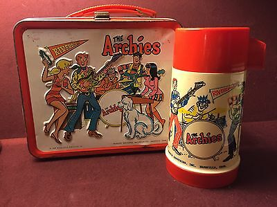 Vintage 1969 The Archies Lunch Box With Thermos Aladdin
