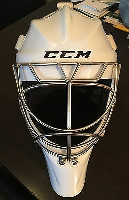 CCM Pro NC Cat eye White LG Goal Mask ICE Hockey Goaltender