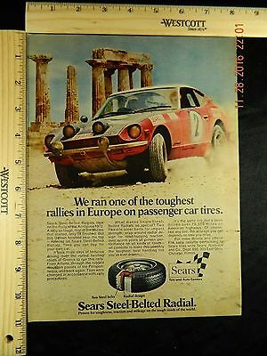 Vintage 1973 Sears Steel-Belted Radials Tires Magazine Ad Rally of Acropolis