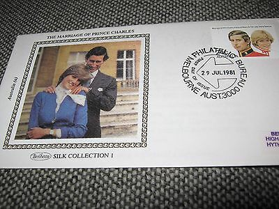1981 The Marriage Of Prince Charles Silk Cover Melbourne 29 July 1981 Aust A