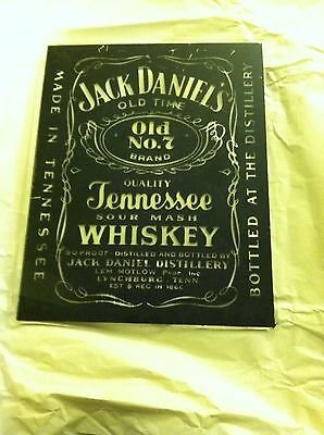 Vintage JACK DANIELS Old No. 7 Tennessee Whiskey Black Label Mirror