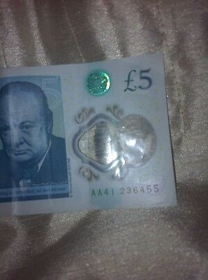 New Style £5 Pound Note aa41