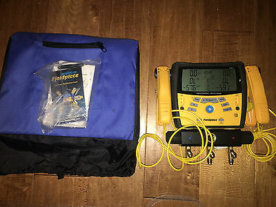 Fieldpiece SMAN360 Digital Manifold Micron Gauge With Clamps and Cover NICE!