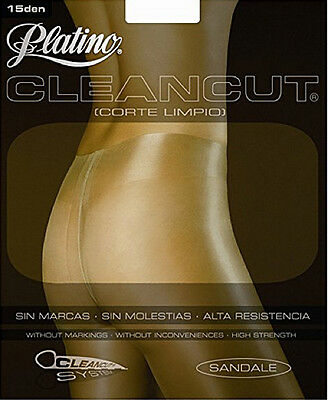 Platino CleanCut 15 Den Gloss Shiny Tights without slip part