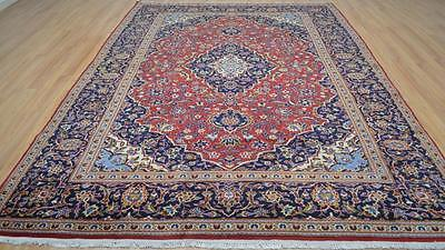 7'10x11'2 Wonderful Genuine S Antique Persian Kashan Hand Knotted Wool Area Rug