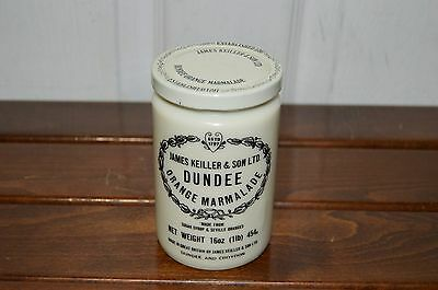 Old Vintage James Kieller & Son Dundee Ceramic Marmalade Jar with lid
