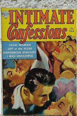 Intimate Confessions #8 Vg 4.0 Realistic 3/1953
