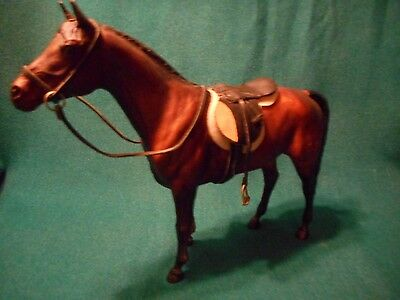 Breyer Stunning Dark Brown And Black Traditional Horse With Tack And Saddle