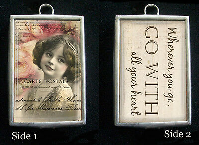 Go with All Your Heart Pendant Charm by IMCC & Crystal Dangle by Jewel Kade