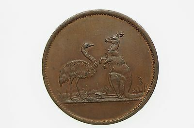Advance Australia (Taylor, WJ) Penny Token in Uncirculated Condition