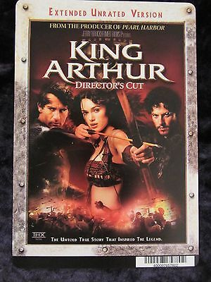 KING ARTHUR movie backer card KEIRA KNIGHTLEY, CLIVE OWEN (this is not a movie)