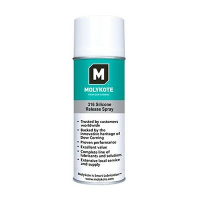 Dow Corning Molykote 316 Silicone Release Spray Clear 283 g (1) 10oz Can