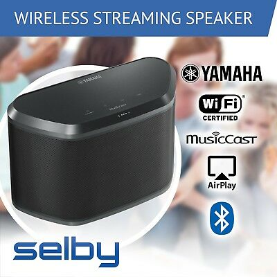 Yamaha WX-030B MusicCast 30W Active Wireless Speaker Black WiFi Bluetooth