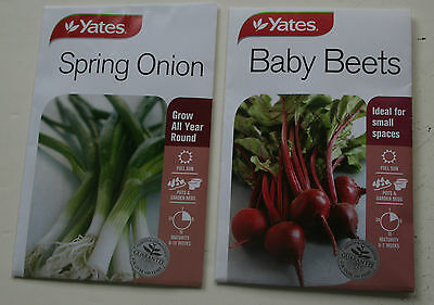 2 packets of YATES SEEDS baby beets & spring onion