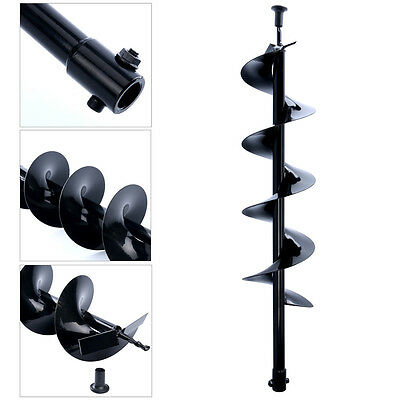 """30"""" Inch Auger Post Hole Digger Bit Carbon Steel 6"""" Inch Wide Skid Steer Drill"""