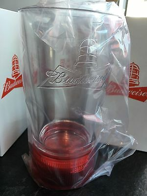 Two Budweiser Red Light Goal-Synced Glasses- Sync To Any Nhl Team