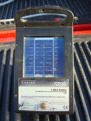Zareba SP3B 6 Volt 3 Mile Low Impedance Solar Powered Electric Fence Controller