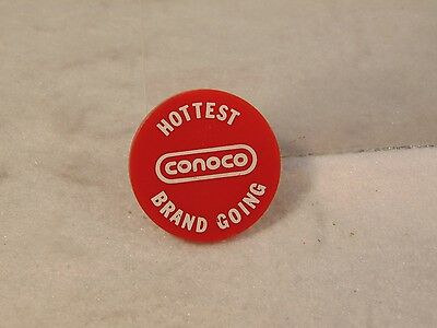Conoco Advertising Gas Oil 2 Sided Button Coin Hottest Brand Going Rare  Nr