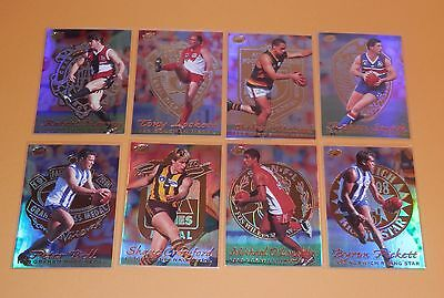 1999 Select Premiere Complete Set Of 8 Medal Cards Mc1 - Mc8