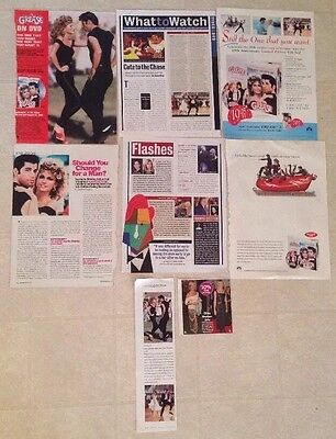 Olivia Newton-John Rare Magazine Clippings Cuttings Grease John Travolta