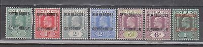 New Hebrides 1911  King Edward Vii Set...6Mnh/1Mlh...og...
