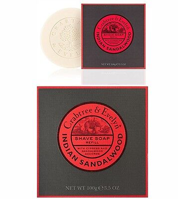 Crabtree & Evelyn West Indian Sandal Wood Shave Soap Refill 100g(12,95 EUR/100g)