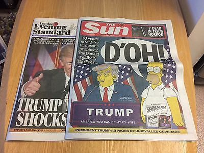 Donald Trump Us Election 2016 Historic Newspaper Issues The Sun Evening Standard