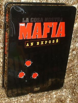 La Cosa Nostra The Mafia An Expose 5Disc Dvd Tin With Deluxe Booklet & Mob Facts