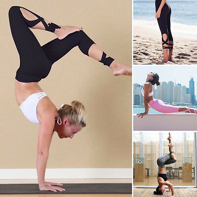 Women High Waist Yoga Fitness Leggings Running Stretch Sports Pants Trousers USA