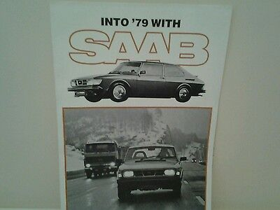 1979 SAAB Sales Brochure with 900 Turbo Poster
