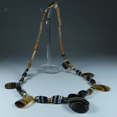 Ancient Western Asiatic Agate Necklace 1000Bc