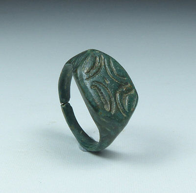 Ancient Roman Bronze Ring 2Nd Ad