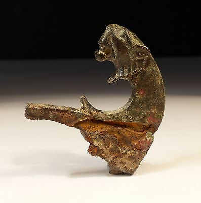 Rare Roman Bronze Razor With Lion Head 2Nd Ad ****free Shipping****
