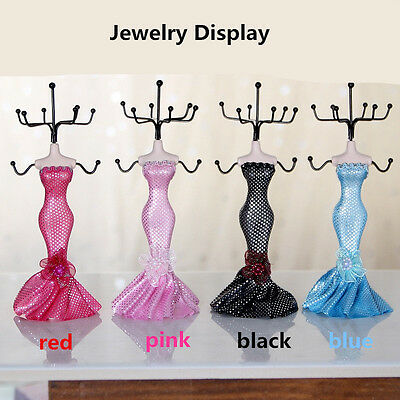 Mannequin Jewelry Stand Earring Necklace Holder Display Stand